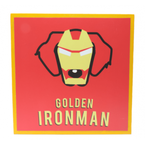 Cuadros decorativos superherores Pet Gifts Golden Iron Man