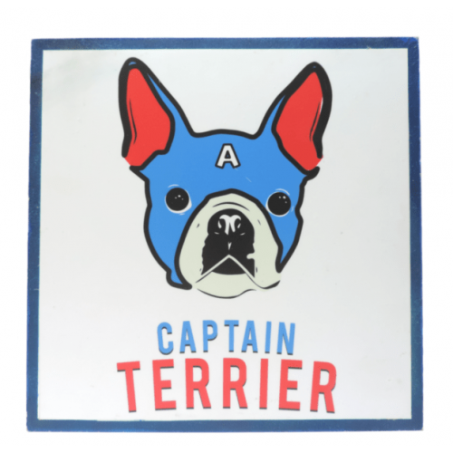 Cuadros decorativos superherores Pet Gifts Captain Terrier