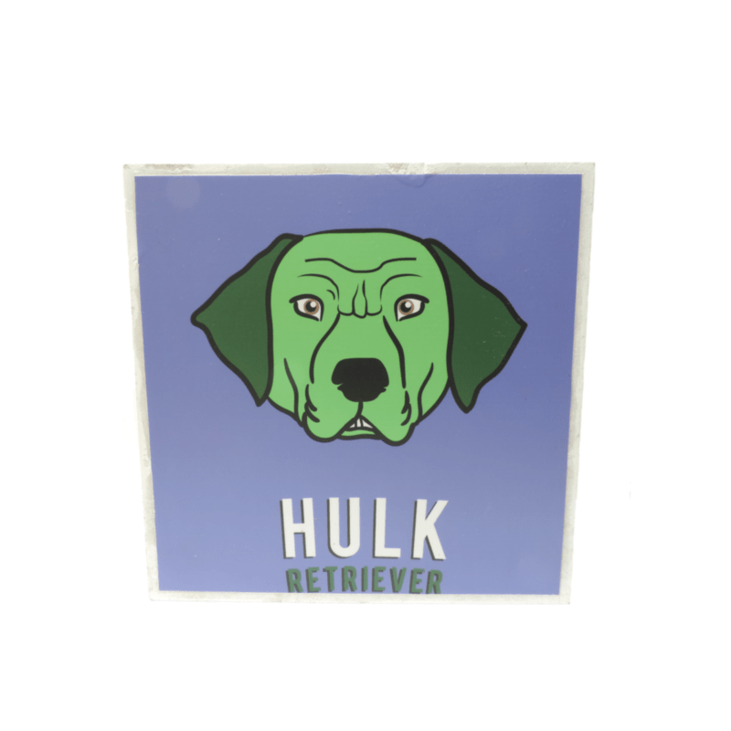 Cuadros decorativos superherores Pet Gifts Hulk Retriever