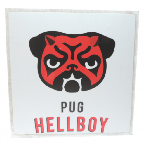 Cuadros decorativos superherores Pet Gifts Pug HellBoy