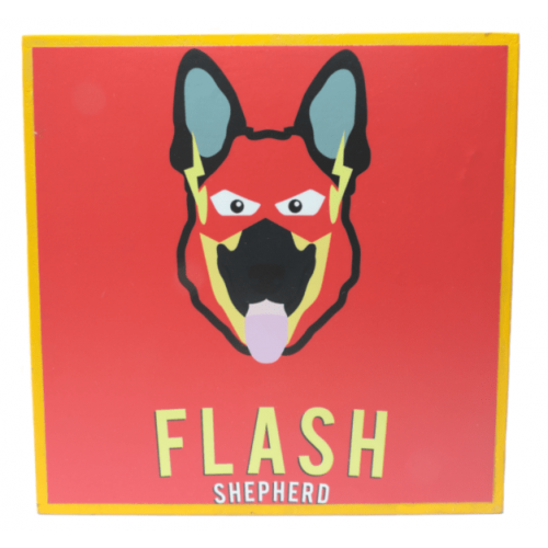 Cuadros decorativos superherores Pet Gifts Flash Shepherd