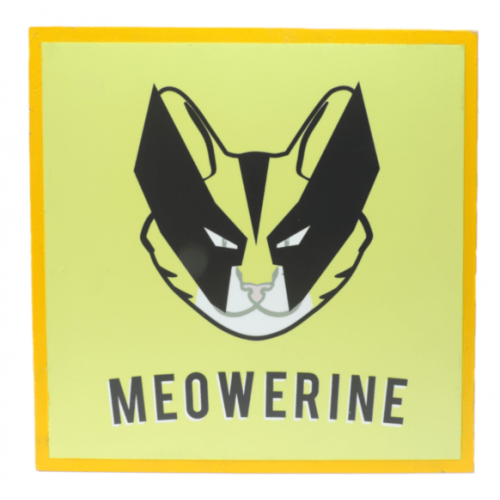 Cuadros decorativos superherores Pet Gifts Meowerine