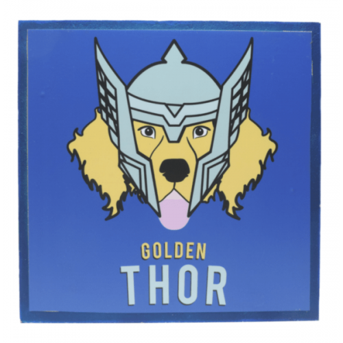 Cuadros decorativos superherores Pet Gifts Golden Thor