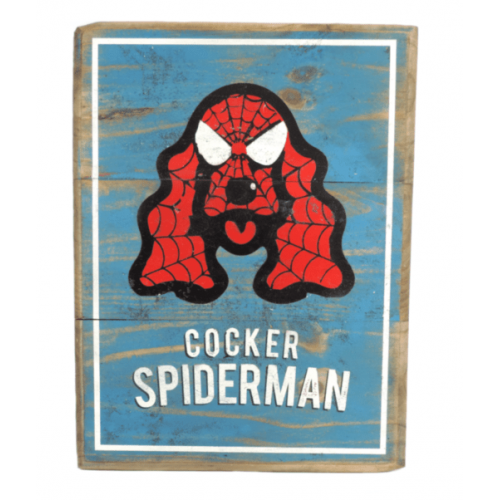 Cuadros vintage Pet Gifts Cocker Spiderman