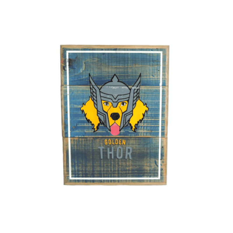 Cuadros vintage Pet Gifts Golden Thor