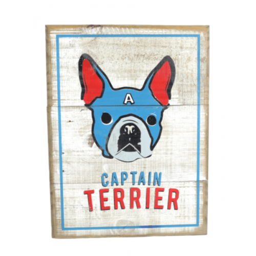 Cuadros vintage Pet Gifts Captain Terrier