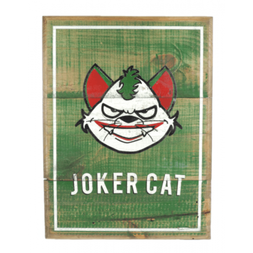 Cuadros vintage Pet Gifts Joker Cat