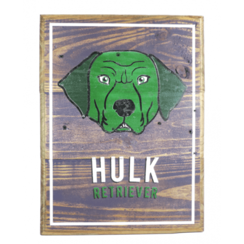 Cuadros vintage Pet Gifts Hulk Retriever
