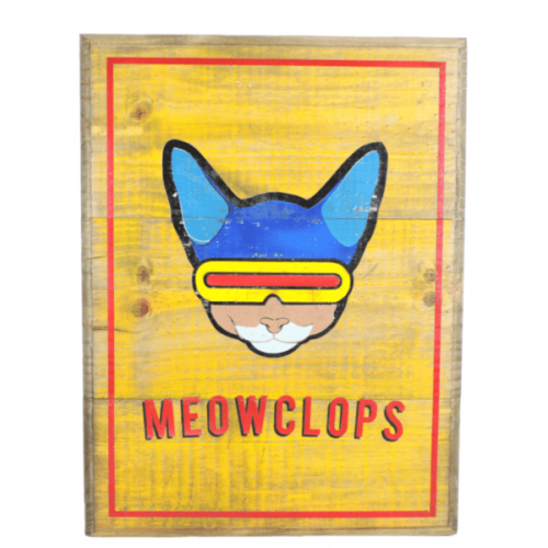 Cuadros vintage Pet Gifts Meowclops