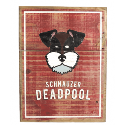 Cuadros vintage Pet Gifts Schnauzer DeadPool