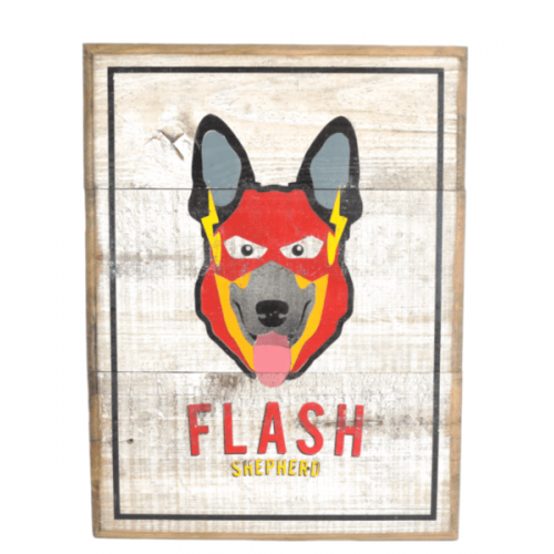 Cuadros vintage Pet Gifts Flash Shepherd