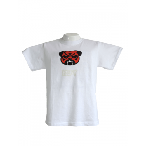 Camiseta Estampada Pet Gifts Hombre Pug HellBoy Blanco