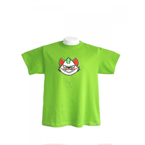 Camiseta Estampada Pet Gifts Hombre Joker Cat Verde