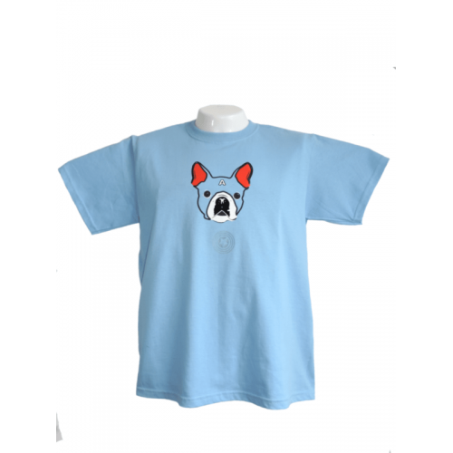 Camiseta Estampada Pet Gifts Hombre Captain Terrier Azul Claro