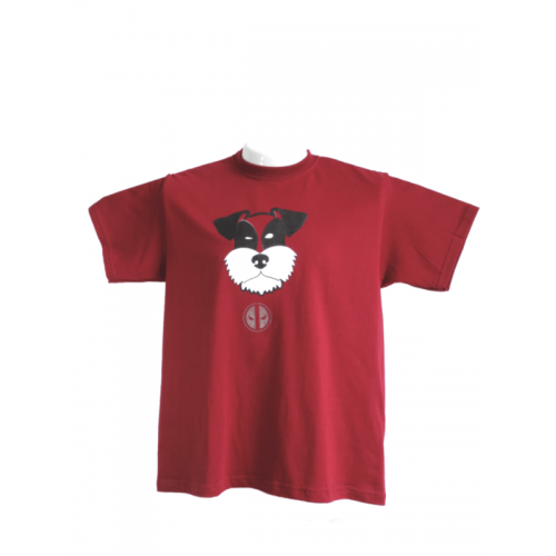 Camiseta Estampada Pet Gifts Hombre Schnauzer DeadPool