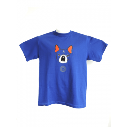 Camiseta Estampada Pet Gifts Hombre Captain Terrier Azul