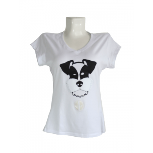 Camiseta Estampada Pet Gifts Mujer Manga Corta DeadPool Blanco