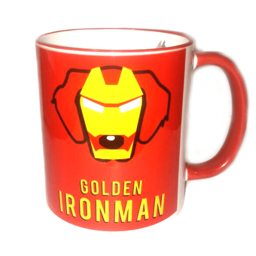 Pocillos superheroes mascotas Pet Gifts Golden Iron Man Rojo